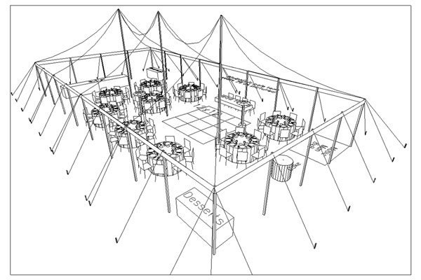 Tents amp Events Sample Layout For 75 Attendees